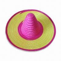 China Mexican Hat, Suitable for Parties, Available in Various Designs, Made of Natural Grass wholesale