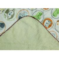 Cute Personalized Swaddle Blanket , Baby Swaddle Wrap Animal Pattern
