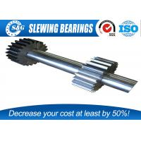 China Long Life Steel Spur Gear Shaft , Involute Spline Shaft With Blackened Oxide Finish wholesale