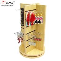 China Countertop Slatwall Display Fixtures Commercial Gifts Retail Rotating Display Stand wholesale