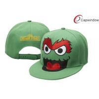 Quality Green Sesame Street Childrens Baseball Caps Custom Embroidered Baseball Hats for sale