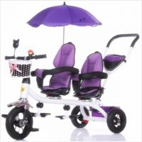 China twins Baby Stroller Tricycle For Kids Baby Carrier Tricycle For Children Baby Tricycle Bike With two seat wholesale