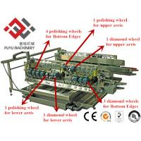 Double Sides Glass Grinding Machine For Architecture Glass With 22 Spindles