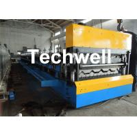 China Galvanized Steel Double Layer Forming Machine For Roof Wall Cladding With HRC50 - 60 Heat Treatment wholesale