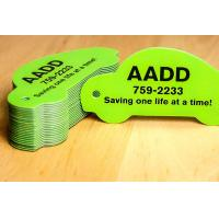 Customize PVC Plastic Cards , Printable Plastic Keyring Tags With Slot Punched