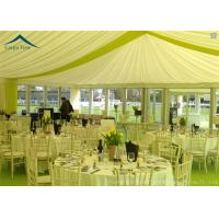 China Family Party Pagoda Tents Glass Wall With Beautiful Linings / Curtains wholesale