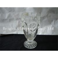 China delicate design milk shake cup, glass ice cream cup wholesale wholesale