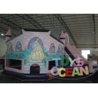 China Kids White Snow Princess Inflatable Bounce Play Castle With Slide For Sale wholesale