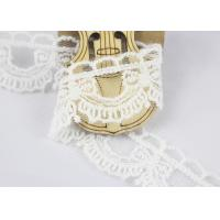 China Guipure Cotton Lace Ribbon Water Soluble Antique Style White Color 2.6cm Width wholesale