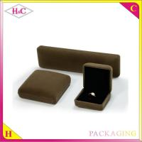 China Luxury velvet box for jewelry packaging box wholesale