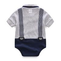 China Unisex Baby Short Bodysuit Gentleman Vest Tie Rompers Climbing Jumpsuit wholesale