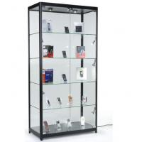 China 4 Fixed Shelves Cell Phone Showcase , Trophy Display Cabinets With Glass Doors wholesale