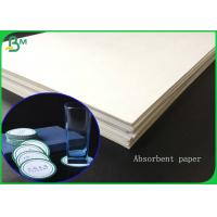 China 1.4MM Thickness White Absorbent Paper Sheet For Making Hotel Coaster wholesale