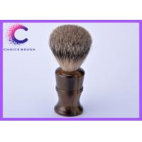 China Long handle best badger hair shaving brush with classical faux horn color handle wholesale