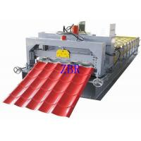 China 380V 3 Phase Glazed Tile Roll Forming Machine , Corrugated Sheet Making Machine wholesale
