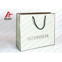 China Handmade Custom Color Print Shopping Recycle Paper Bag with Handle , UV Finishing wholesale