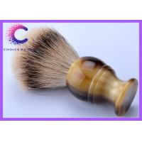 China Travel agencies soft shaving brush with horn handle deluxe gift box package wholesale