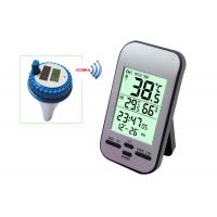 Professional Wireless Digital Swimming Pool SPA Floating Thermometer Remote Temperature Humidity Gauge with Clock MS0228