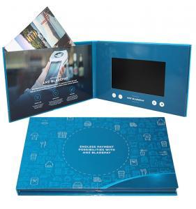 Digital Promotional LCD Video Brochure Card / Custom Video Brochure 7 Inch Tft Screen