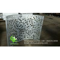 China custom made aluminum cladding panel with perforation hole for facade curtain wall wholesale