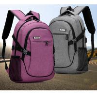 China Outdoor Anti Theft Business Laptop Backpack With Charger Built In / External USB System wholesale