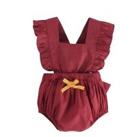 China Sleeveless Unisex Baby Rompers / Solid Color Romper Baby Girl Jumpsuit wholesale
