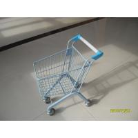 Quality 20 Liter Zinc Plated Kids Metal Grocery Shopping Cart CE / GS / Rosh for sale