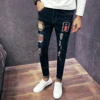 Wholesale Customized Several Patterns Classic Mens Tapered Jeans , Patch Denim Jeans from china suppliers