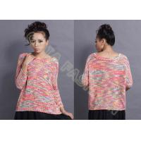 China Colorful Winter / Autumn Ladies Crew Neck Sweaters in Jacquard Pattern wholesale