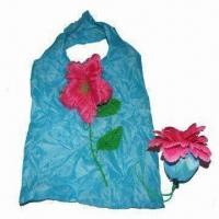 China shopping bag, new arrival flower-shaped polyester shopping bag, eco-friendly, OEM orders are welcome wholesale