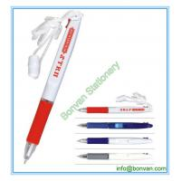 China two color ball pen with lanyard,lanyard multicolor ball pen wholesale