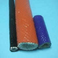 China Brake Lines Braided Silicone Rubber Fiberglass Sleeving With Silicone Resin wholesale