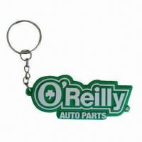 China Rubber Keychains with 3D Logo, Suitable for Promotions and Advertisements wholesale