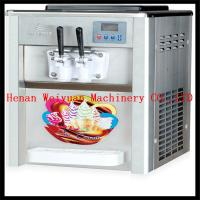China hot sale double cooling system soft serve ice cream machine wholesale