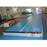 China Gymnastics Inflatable Tumble Track  / Grey Air Track Tumbling For Kids wholesale