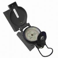 Quality Aluminum Compass for Military Use, with Double Magnifying Glass for sale