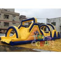China Long Obstacle Course Inflatable Rentals Funny Commercial Obstacle Race For Outdoor wholesale