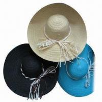 China Straw Hat, Available in Various Colors, Made of Natural Straw wholesale