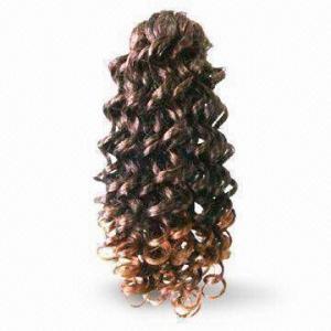 China Wig, Made of Human Hair Kanekalon or Chinese Fiber, Various Lengths are Available wholesale