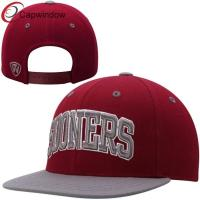 China Red Sports Sooners Adjustable Snapback Hat , Custom Strapback Hats  wholesale