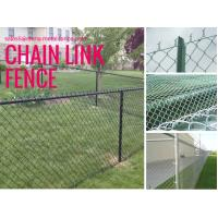 China Black PVC Coated Chain Link Panels/Cyclone Fence 1.5m*10m*60mm*3.5mm wholesale