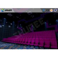 China 100 Seats Sound Vibration Cinema Movie Theater Seats Bubble / Rain / Wind / Lightning wholesale