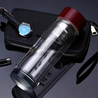 China Portable Drinking Water Bottle Glass , Insulated Water Bottle For Hot And Cold wholesale