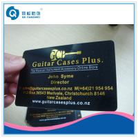 China Gold Plastic Business Card Printing Hot Stamping Foil PVC Business Cards wholesale