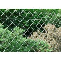 China Outdoor Galvanized Chain Link Fence ISO9001 Galvanized Steel Chain Link Fence wholesale
