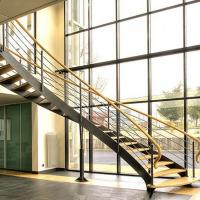 China Arc Modern Wood Steel Round Staircase wholesale