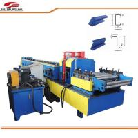 China Blue C Purlin Sheet Metal Roll Forming Machine 80mm Shaft Dia 1.5mm-3.2mm Thickness on sale
