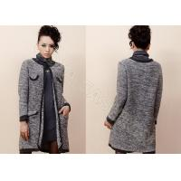 China Winter Mohair Womens Chunky Sweaters with Crew Neck and Long Sleeve Cardigan wholesale