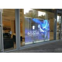 China Space Saving Transparent LED Screens 1920Hz For Store / Building Glass W wholesale