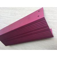 China Pink Anodized standard aluminum extrusion profiles with CNC Drilling and Tapping wholesale